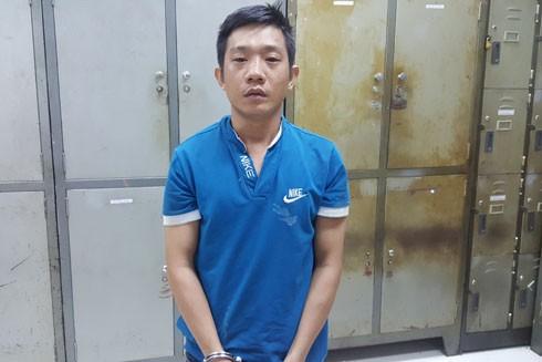 Đối tượng Nguyễn Văn Viện tại cơ quan công an