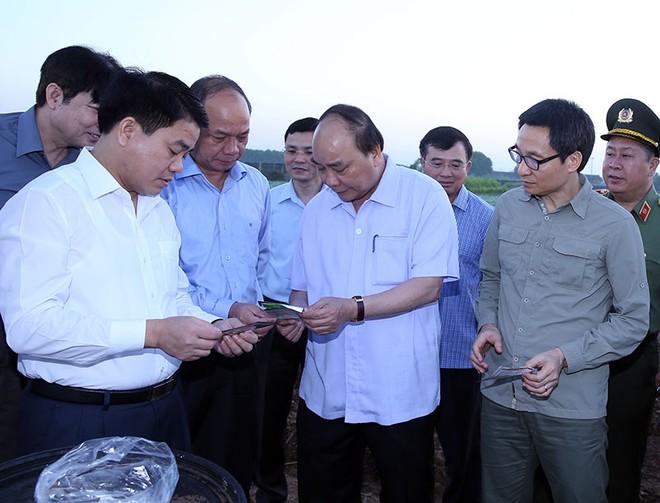 Thủ tướng Nguyễn Xuân Phúc thăm vùng trồng rau sạch tại xã Văn Đức, Gia Lâm
