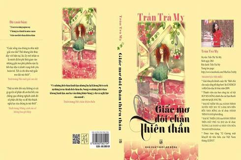 """Bức tranh minh họa bìa cuốn sách """"Giấc mơ đôi chân thiên thần"""" cũng bị tố dùng không xin phép"""