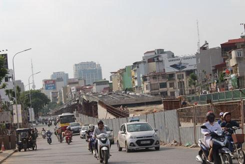 Cầu vượt Ô Đống Mác - Nguyễn Khoái sẽ hoàn thiện trước Tết Nguyên đán 2017