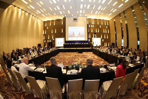Quang cảnh một cuộc họp trong khuôn khổ Hội nghị lần thứ nhất các quan chức cao cấp APEC (SOM 1)