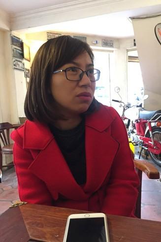 Chị Quách Thị Phương Thanh - em gái nạn nhân Quách Thị Mai Phương