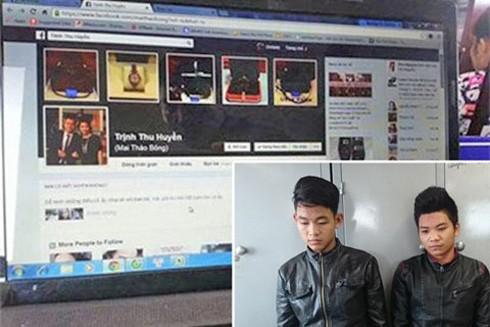 Đối tượng Nguyễn Đức Anh, Nguyễn Thế Dũng và tài khoản facebook làm giả bị CATP Hà Nội phát hiện, xử lý