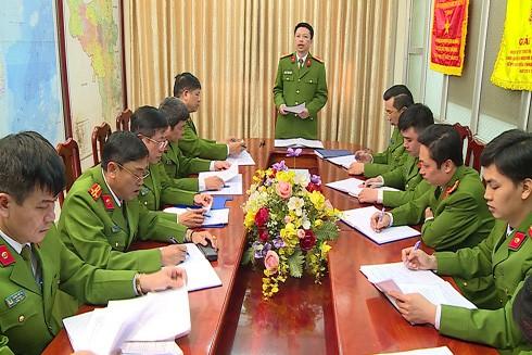 """Lực lượng Cảnh sát ĐTTP về ma túy CAHN trong cuộc họp chỉ đạo thực hiện """"đánh án"""" ma túy"""