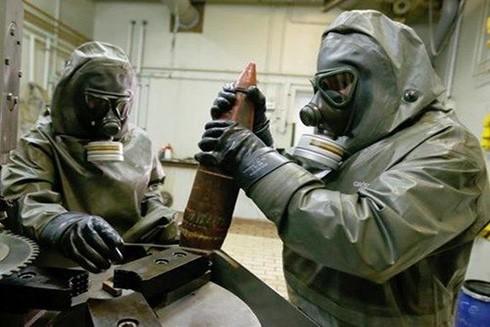 Các chuyên gia Nga xử lý vũ khí hóa học của nước này