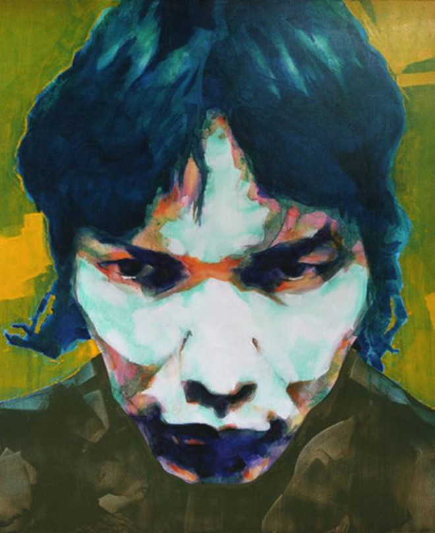 Bức tranh chân dung do họa sỹ Doãn Hoàng Lâm tự họa