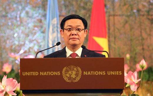 Phó Thủ tướng Vương Đình Huệ khẳng định Việt Nam sẽ tiếp tục chủ động đóng góp tích cực, có trách nhiệm vào các cơ chế của LHQ
