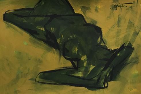 """""""Đêm xanh 2"""" của họa sĩ Nguyễn Trung Hiếu"""