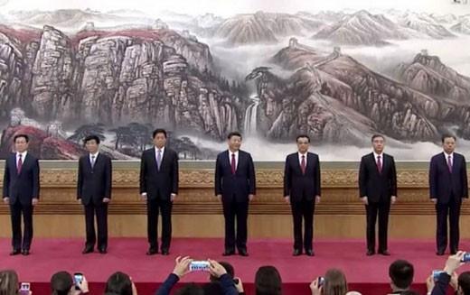 Ra mắt Ban Thường vụ Bộ Chính trị Trung Quốc khóa mới ra mắt ngày 25-10