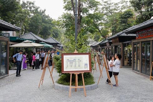 Bản vẽ kiến trúc Pháp tiêu biểu ở Hà Nội được trưng bày tại phố Sách