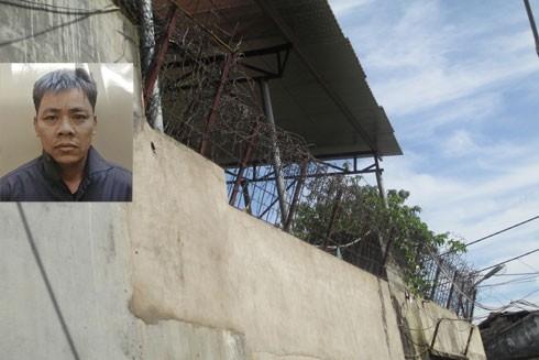 """Đối tượng Nguyễn Quang Định và """"lô cốt"""" nơi y ẩn náu được lắp kín dây thép gai và camera"""