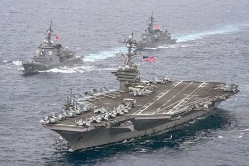 Tàu sân bay Carl Vinson của Mỹ sẽ hiện diện ở vùng biển gần bán đảo Triều Tiên trong suốt thời gian diễn ra Thế vận hội mùa Đông 2018