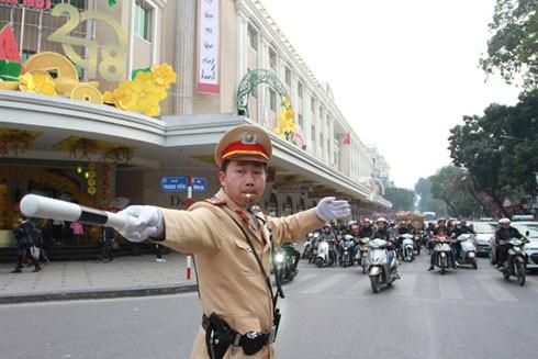 CATP Hà Nội phân luồng giao thông phục vụ Hội nghị Thượng đỉnh hợp tác Tiểu vùng Mekong