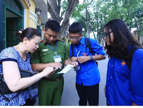 Thanh niên tình nguyện hè tại Hà Nội sẵn sàng cho chương trình tiếp sức mùa thi năm 2018