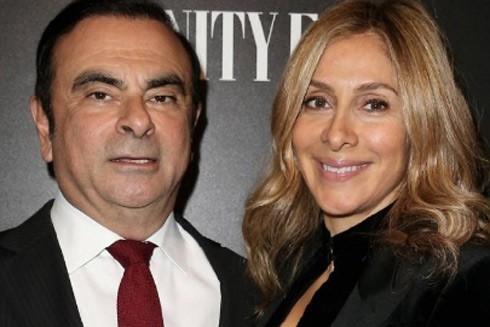Vợ chồng cựu Chủ tịch Tập đoàn Renault Carlos và Carole Ghosn