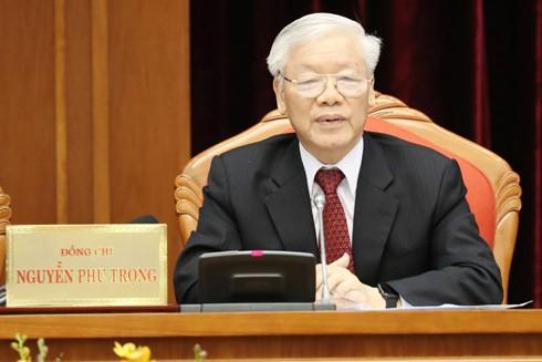 Tổng Bí thư - Chủ tịch nước Nguyễn Phú Trọng phát biểu khai mạc Hội nghị lần thứ 10 Ban Chấp hành Trung ương Đảng khóa XII