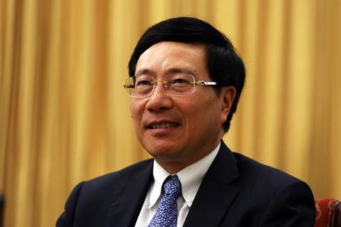 Phó Thủ tướng Phạm Bình Minh: Việt Nam mong muốn thúc đẩy chủ nghĩa đa phương, tôn trọng luật pháp quốc tế, giải quyết những vấn đề toàn cầu, vấn đề liên quan đến hòa bình, an ninh