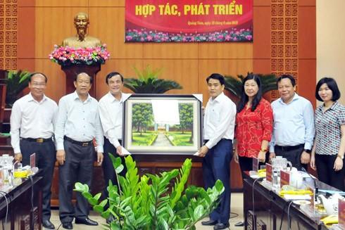 Thủ đô Hà Nội và tỉnh Quảng Nam hợp tác, phát triển toàn diện ảnh 1