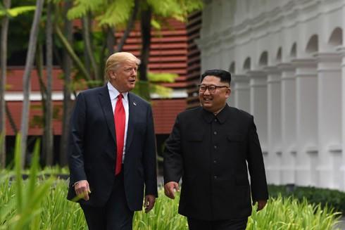 Tổng thống Mỹ Donald Trump và Chủ tịch Triều Tiên Kim Jong-un