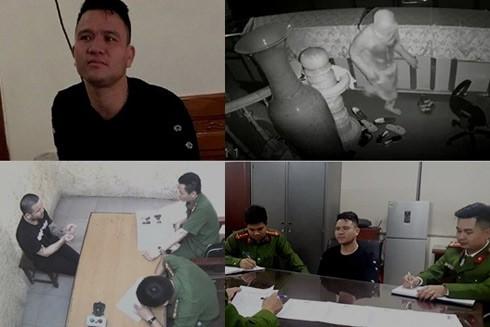 """Những hình ảnh về """"siêu trộm"""" Nguyễn Văn Năm khi bị bắt, lấy lời khai và quá trình đột nhập hiệu vàng"""