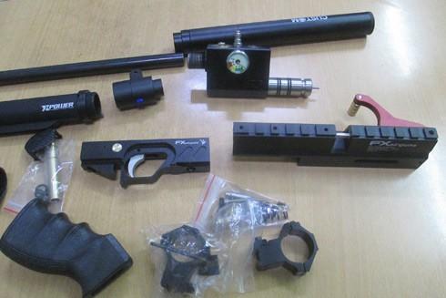 Những thành phần để lắp ráp nên một khẩu súng hơi hoàn chỉnh