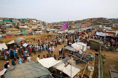 Cox's Bazar, Bangladesh là khu trại tị nạn lớn nhất thế giới với khoảng 912.000 người Rohingya từ Myanmar di cư sang