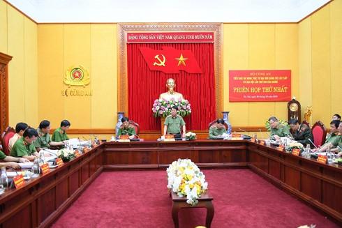 Thượng tướng Bùi Văn Nam, Thứ trưởng Bộ Công an phát biểu tại phiên họp