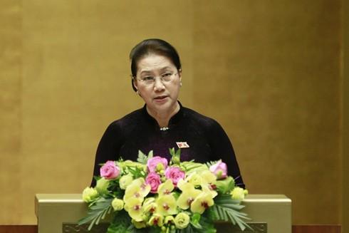 Chủ tịch Quốc hội Nguyễn Thị Kim Ngân phát biểu bế mạc Kỳ họp thứ 8, Quốc hội khóa XIV