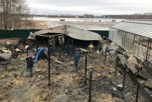 Hiện trường nơi xảy ra vụ cháy khiến 8 người thiệt mạng