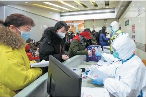 Bệnh viện thuộc trường Đại học Khoa học và công nghệ Huazhong, Vũ Hán hôm 28-1