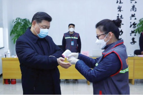 Chủ tịch Trung Quốc Tập Cận Bình thăm khu phố Anhuali ở Bắc Kinh ngày 10-2