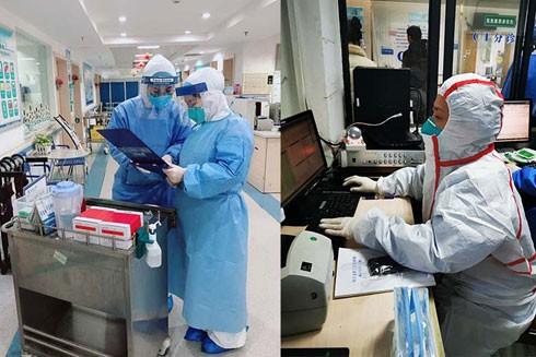 Các bác sĩ tại Bệnh viện Nhân dân số 3 thành phố Vũ Hán, Trung Quốc