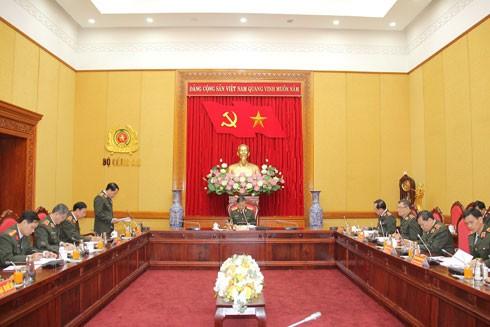 Toàn cảnh cuộc họp của Ủy ban kiểm tra Đảng ủy Công an Trung ương