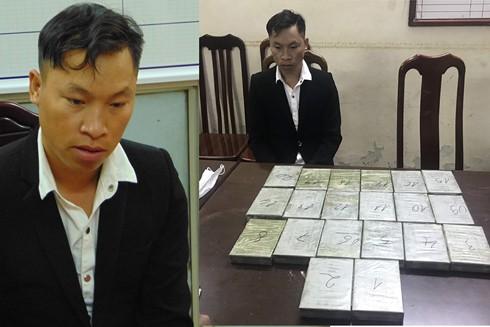 Đối tượng Páo bị bắt giữ khi đang mang theo 20 bánh heroin