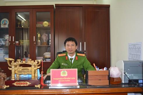 Trung tá Nguyễn Văn Tuân - Tiểu đoàn trưởng Tiểu đoàn Cảnh sát bảo vệ hàng đặc biệt