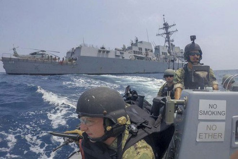Các lực lượng của Mỹ tiến hành tuần tra ở Biển Đông nhằm bác bỏ những yêu sách đòi chủ quyền phi pháp của Trung Quốc