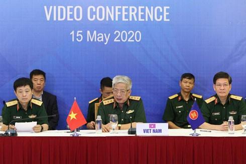 Thượng tướng Nguyễn Chí Vịnh, Thứ trưởng Bộ Quốc phòng, Trưởng ADSOM Việt Nam chủ trì hội nghị