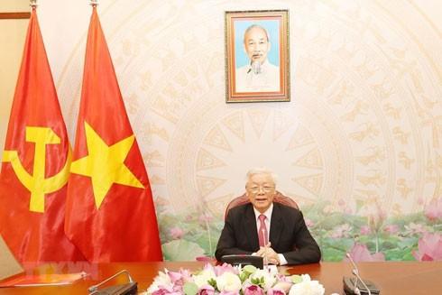 Tổng Bí thư, Chủ tịch nước Nguyễn Phú Trọng điện đàm với Tổng thống Nga Vladimir Putin
