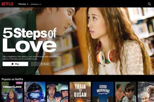 """Phim Việt """"12 chòm sao: Vẽ đường cho yêu chạy"""" lên Netflix với tựa tiếng Anh thành """"5 steps of Love"""" (Ảnh chụp màn hình)"""