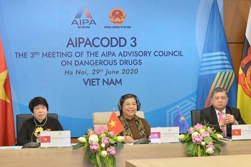 Ủy viên Bộ Chính trị, Phó Chủ tịch Thường trực Quốc hội Tòng Thị Phóng phát biểu khai mạc hội nghị.