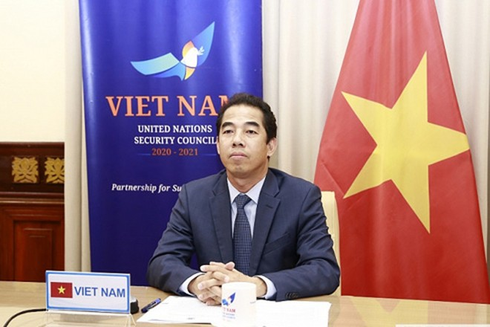 Thứ trưởng Bộ Ngoại giao Tô Anh Dũng dự Cuộc thảo luận mở trực tuyến của Hội đồng Bảo an Liên hợp quốc