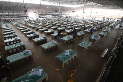 Bệnh viện dã chiến tại Thủ đô New Delhi điều trị cho bệnh nhân Covid-19