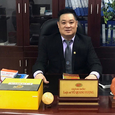 Luật sư Vũ Quang Vượng (Giám đốc Công ty Luật TNHH Quang Vượng; Địa chỉ: Số 6, ngõ 29 Láng Hạ, Ba Đình, Hà Nội)