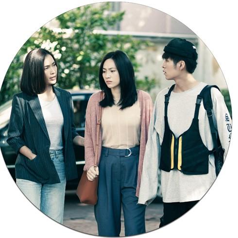 Diễn viên Ái Phương - Phương Anh Đào và Otis trong phim