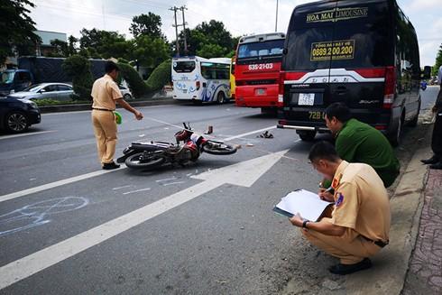Khám nghiệm hiện trường một vụ tai nạn giao thông
