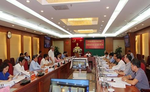 Bí thư Trung ương Đảng, Chủ nhiệm Ủy ban Kiểm tra Trung ương Trần Cẩm Tú chủ trì Kỳ họp thứ 46 từ ngày 15 đến ngày 17-7