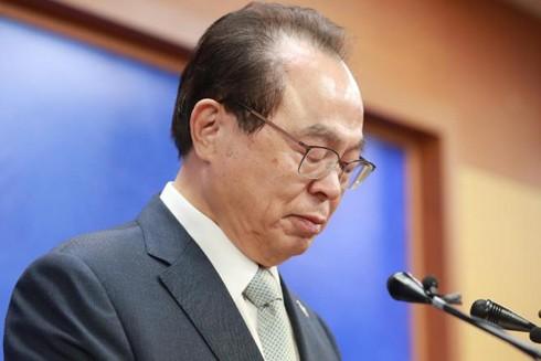 Ông Oh Keo-don tuyên bố từ chức vào ngày 23-4-2020 tại Busan