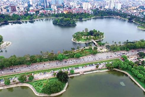 Công viên Thống Nhất nhìn từ trên cao