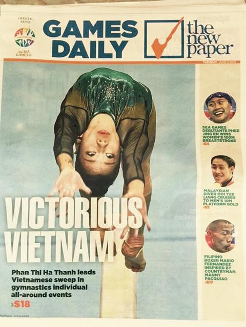 Phan Thị Hà Thanh lên trang nhất tờ The New Paper