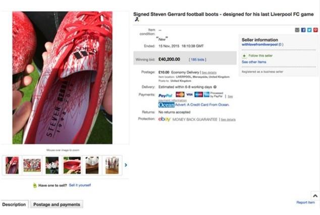 Đôi giày của Gerrard đắt hơn với một chiếc xe Mercedes